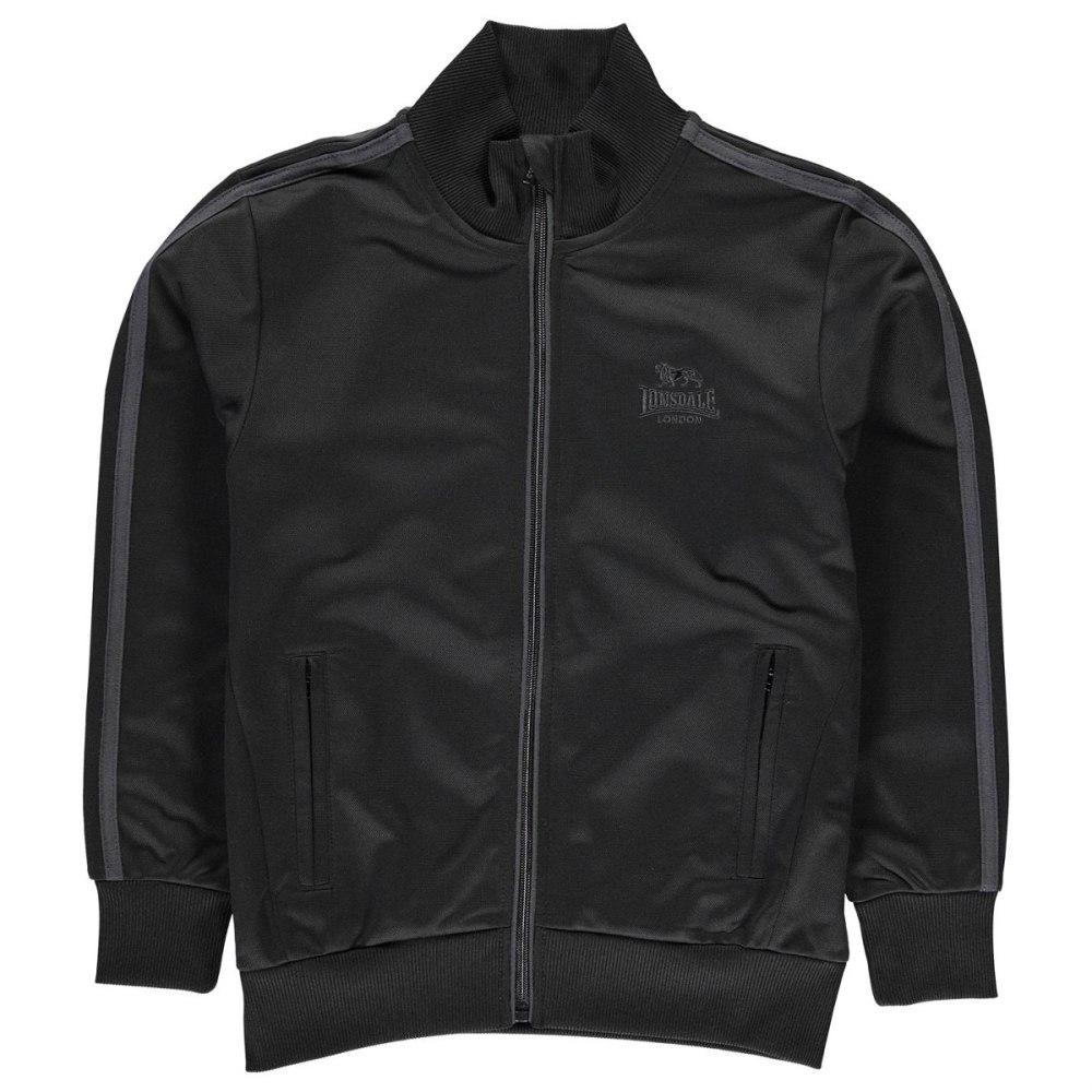 LONSDALE Boys' Track Jacket - BLACK/CHARCOAL