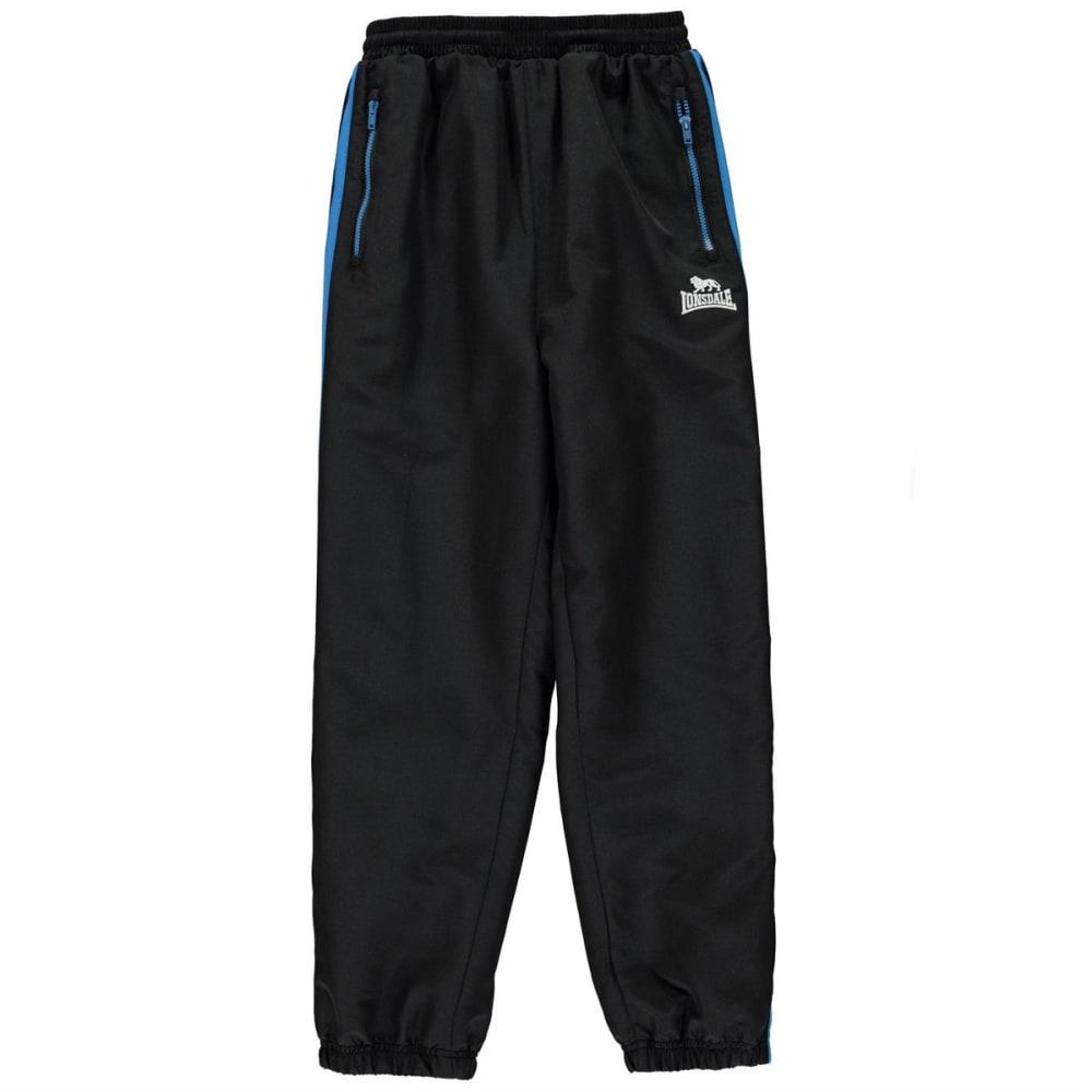 LONSDALE Boys' Two-Stripe Closed-Hem Woven Pants - Blk/BrBlue/Wht