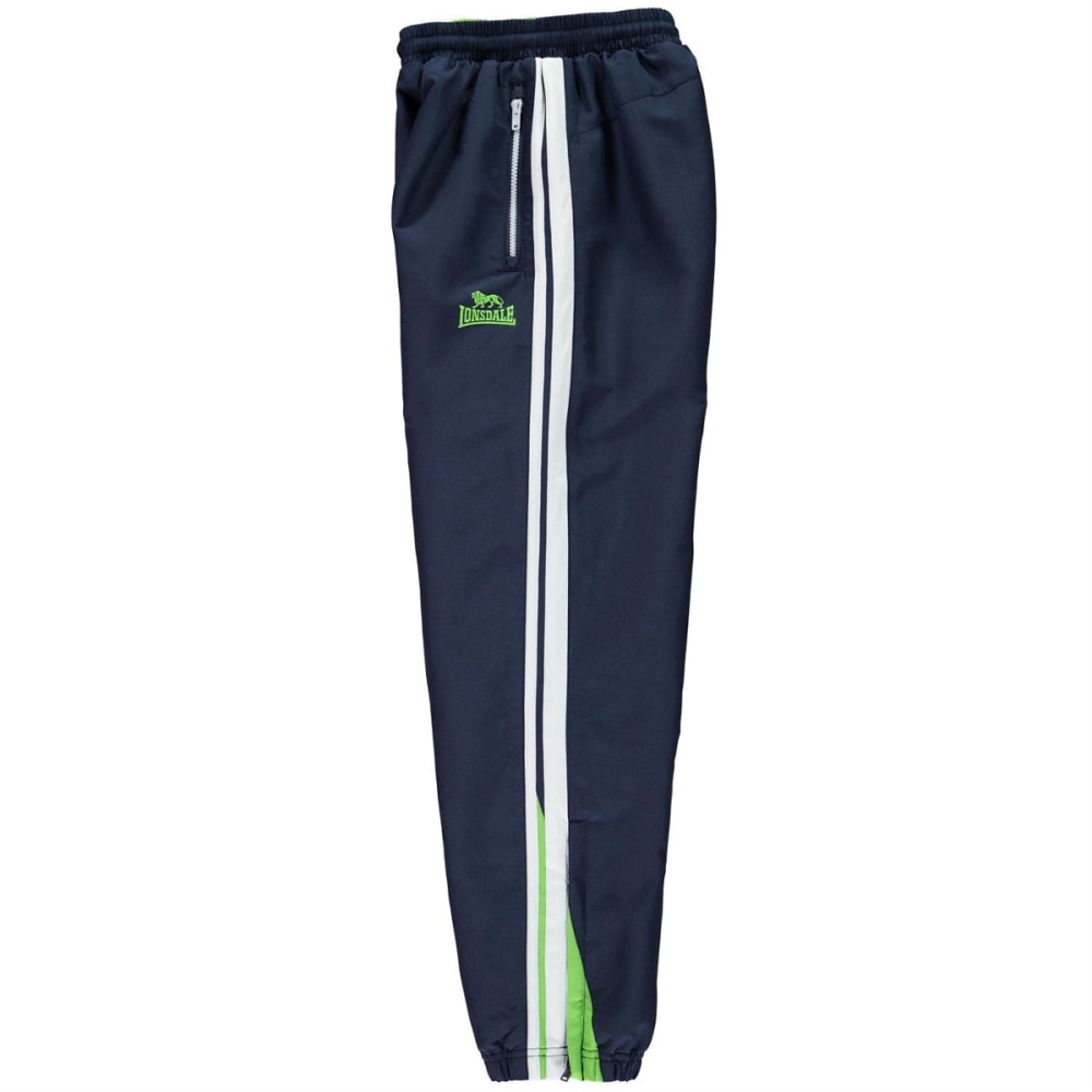 LONSDALE Boys' Two-Stripe Closed-Hem Woven Pants - Navy/Green/Wht