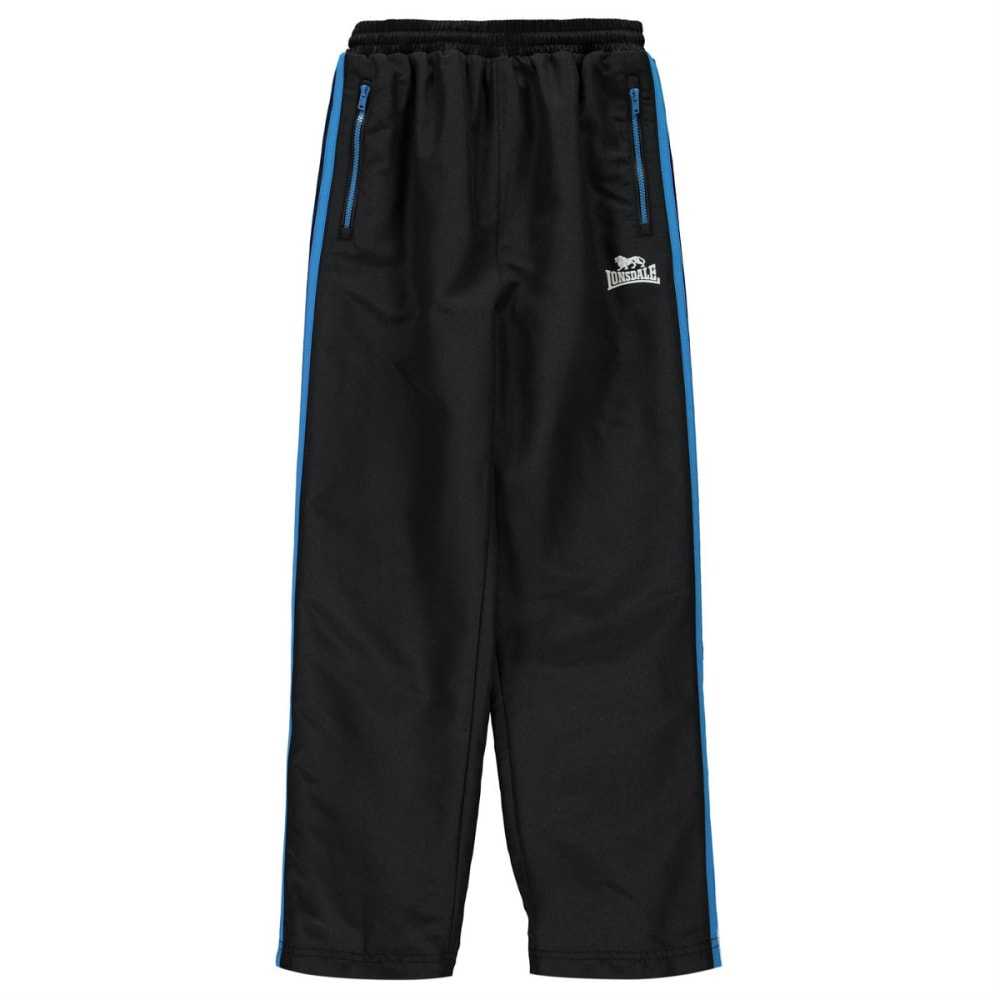 LONSDALE Boys' Two-Stripe Open-Hem Woven Pants - Blk/BrBlue/Wht