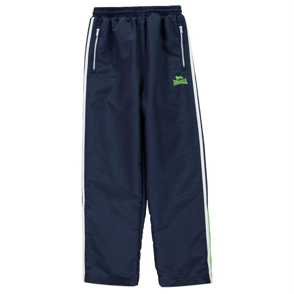 Lonsdale Boys' Two-Stripe Open-Hem Woven Pants - Blue, 9-10