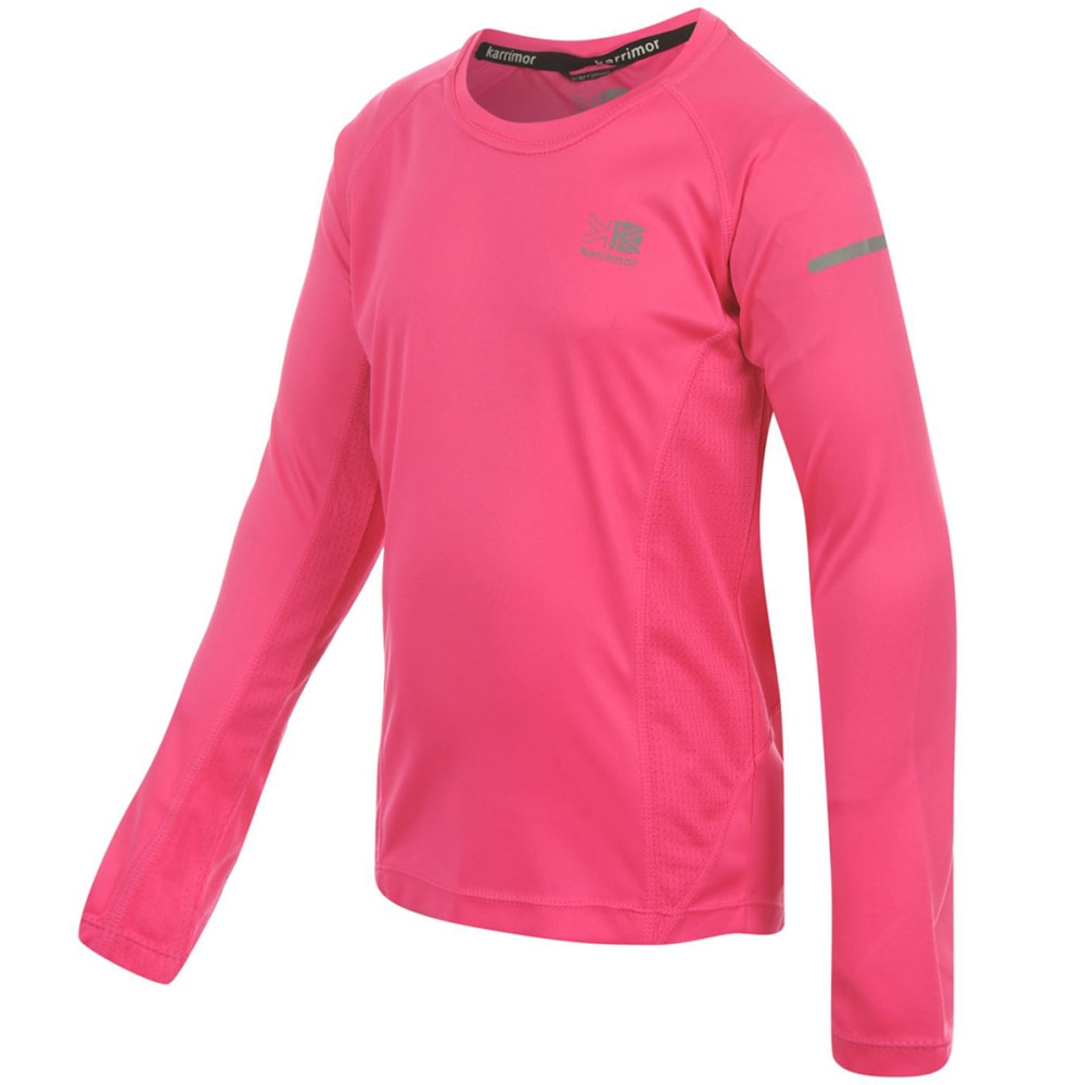 KARRIMOR Girls' Long-Sleeve Running Top - PINK