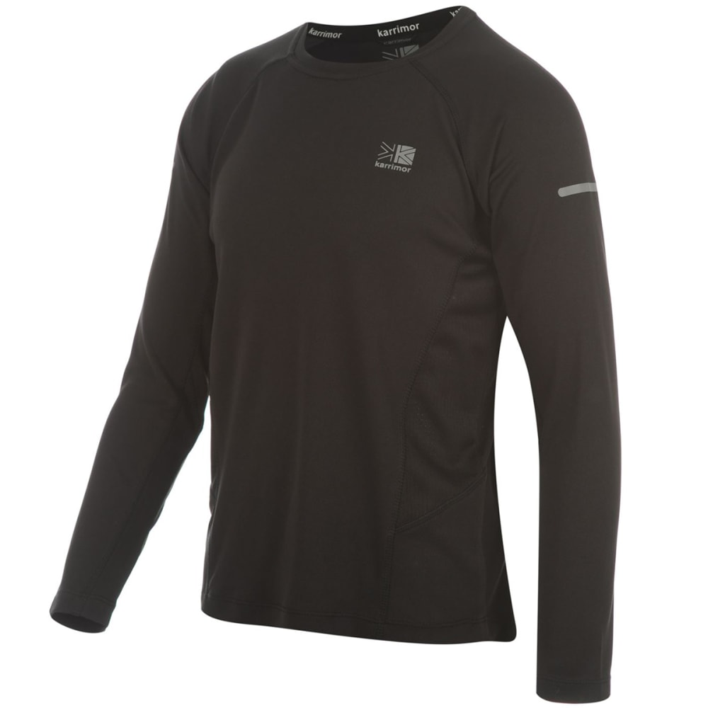 KARRIMOR Juniors' Long-Sleeve Running Top - BLACK