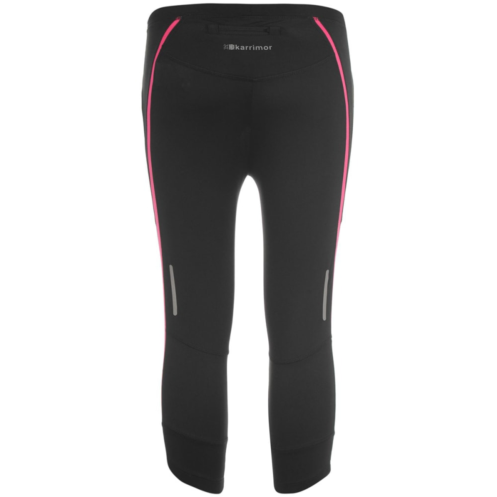 KARRIMOR Girls' Run Capri Tights - BLACK/PINK