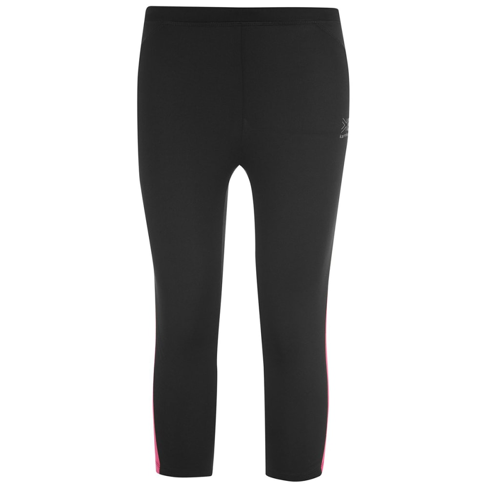 KARRIMOR Girls' Run Capri Tights - BLACK/PINK