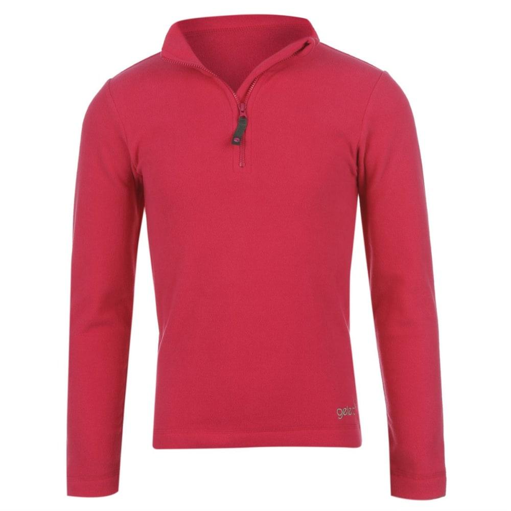 GELERT Girls' Atlantis Fleece ¼-Zip Pullover - BRIGHT PINK