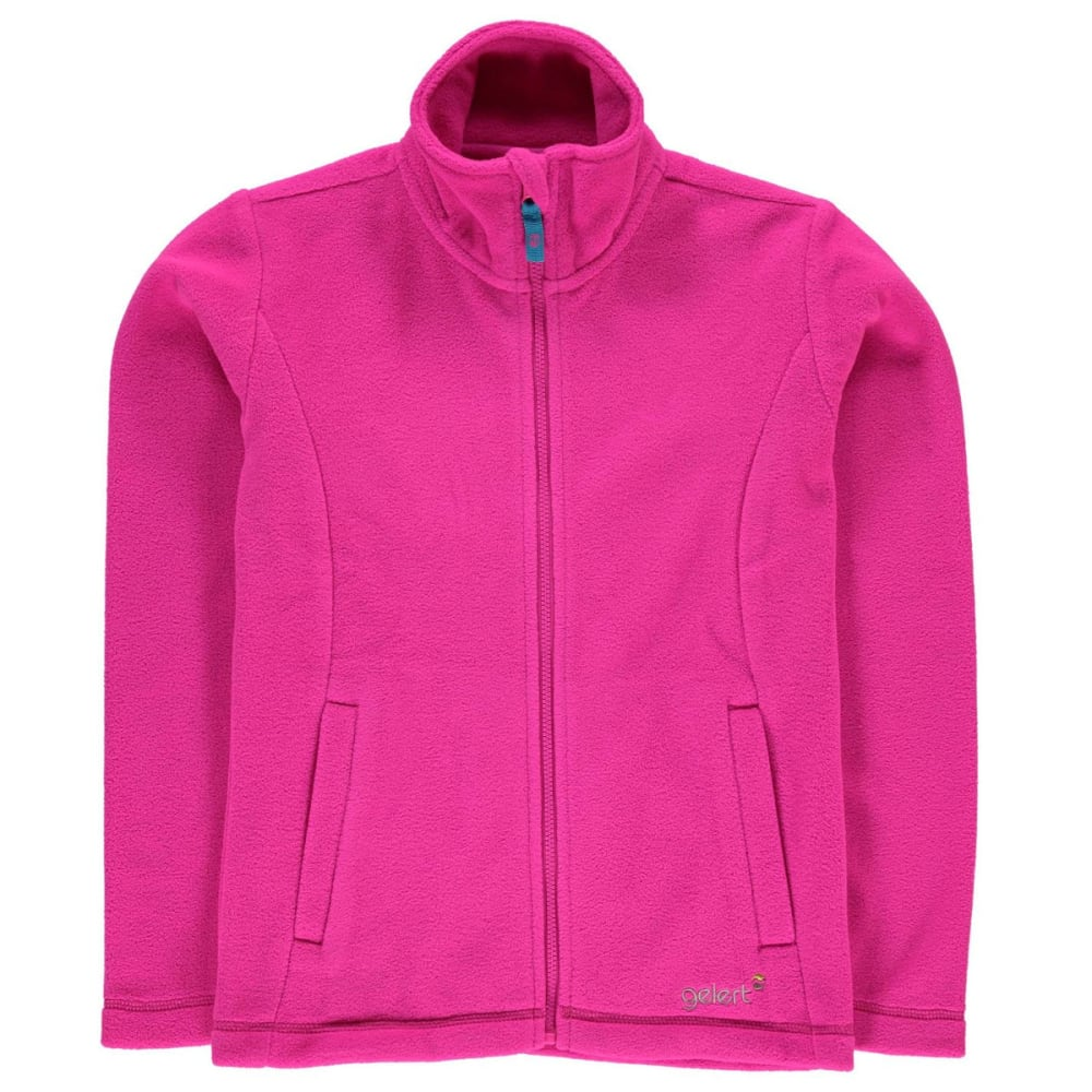 GELERT Girls' Ottawa Fleece Jacket - BRIGHT PINK
