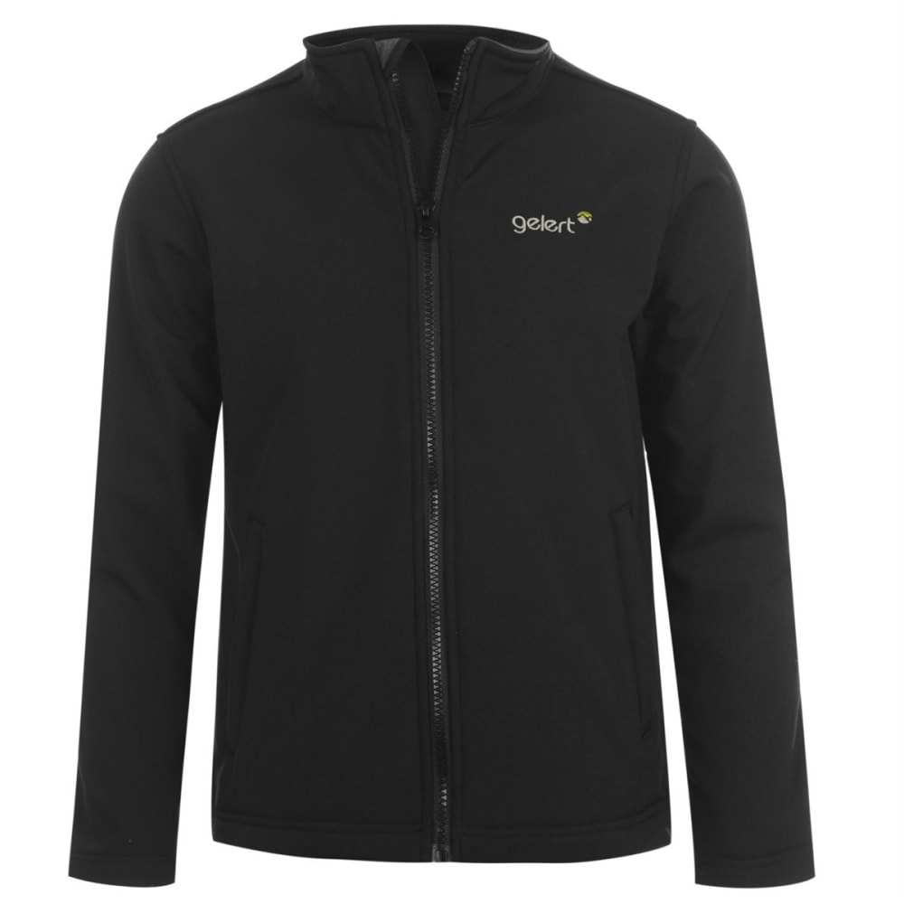 GELERT Boys' Soft Shell Jacket - BLACK