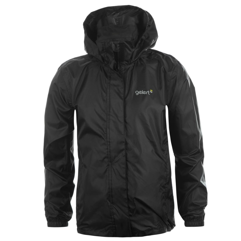 GELERT Boys' Packaway Jacket - BLACK