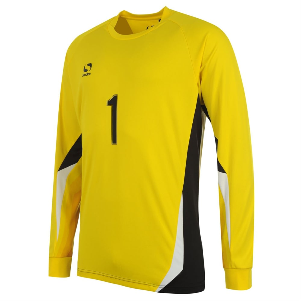 SONDICO Boys' Core Goalkeeper Long-Sleeve Shirt - YELLOW