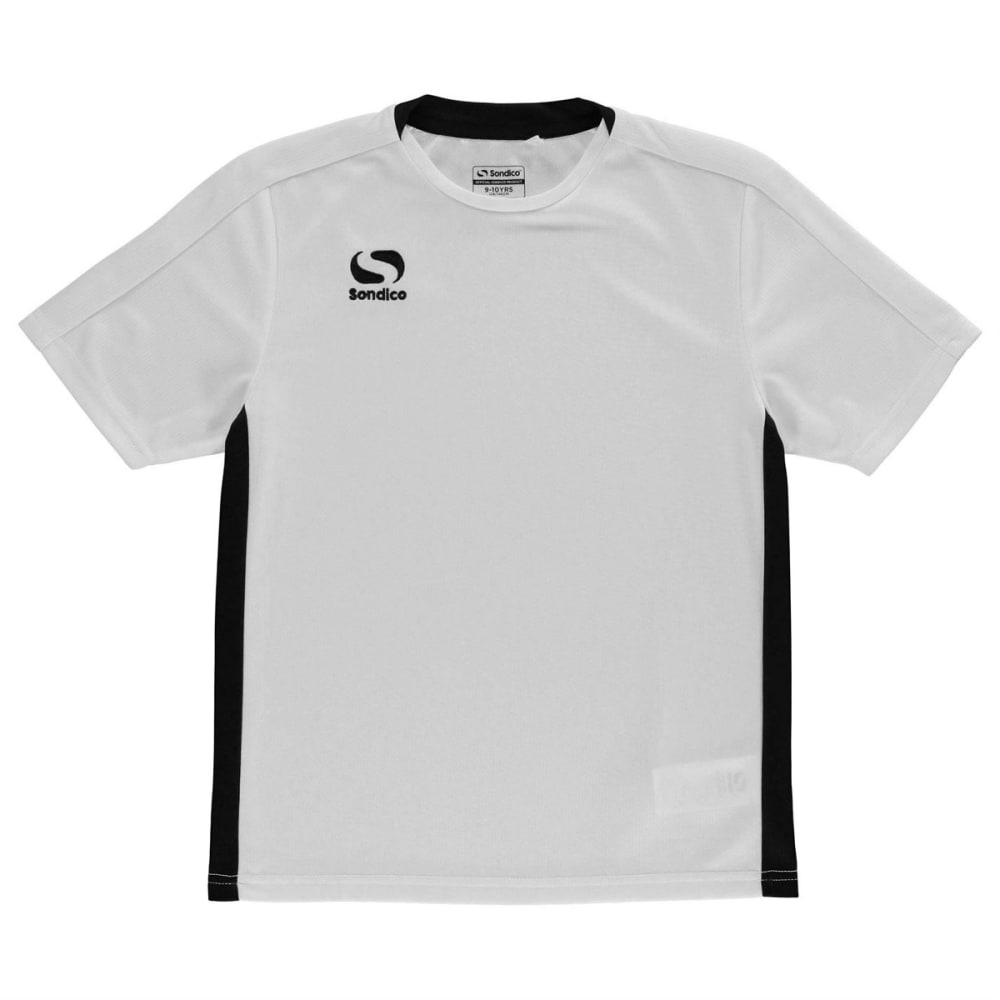 SONDICO Boys' Fundamental Short-Sleeve Tee - WHITE/BLACK