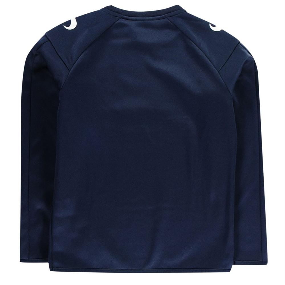 SONDICO Boys' Strike Crew Long-Sleeve Pullover - NAVY/WHITE
