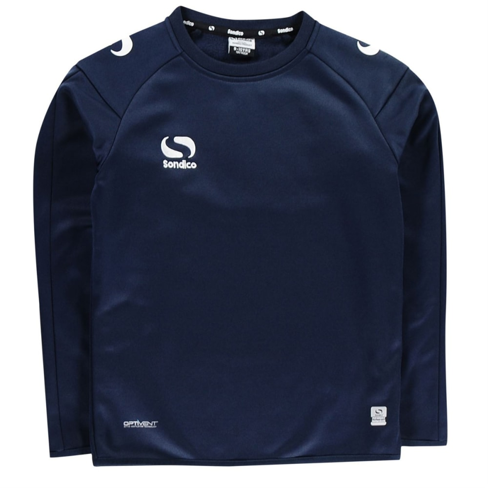 SONDICO Boys' Strike Crew Long-Sleeve Pullover - NAVY/WHITE