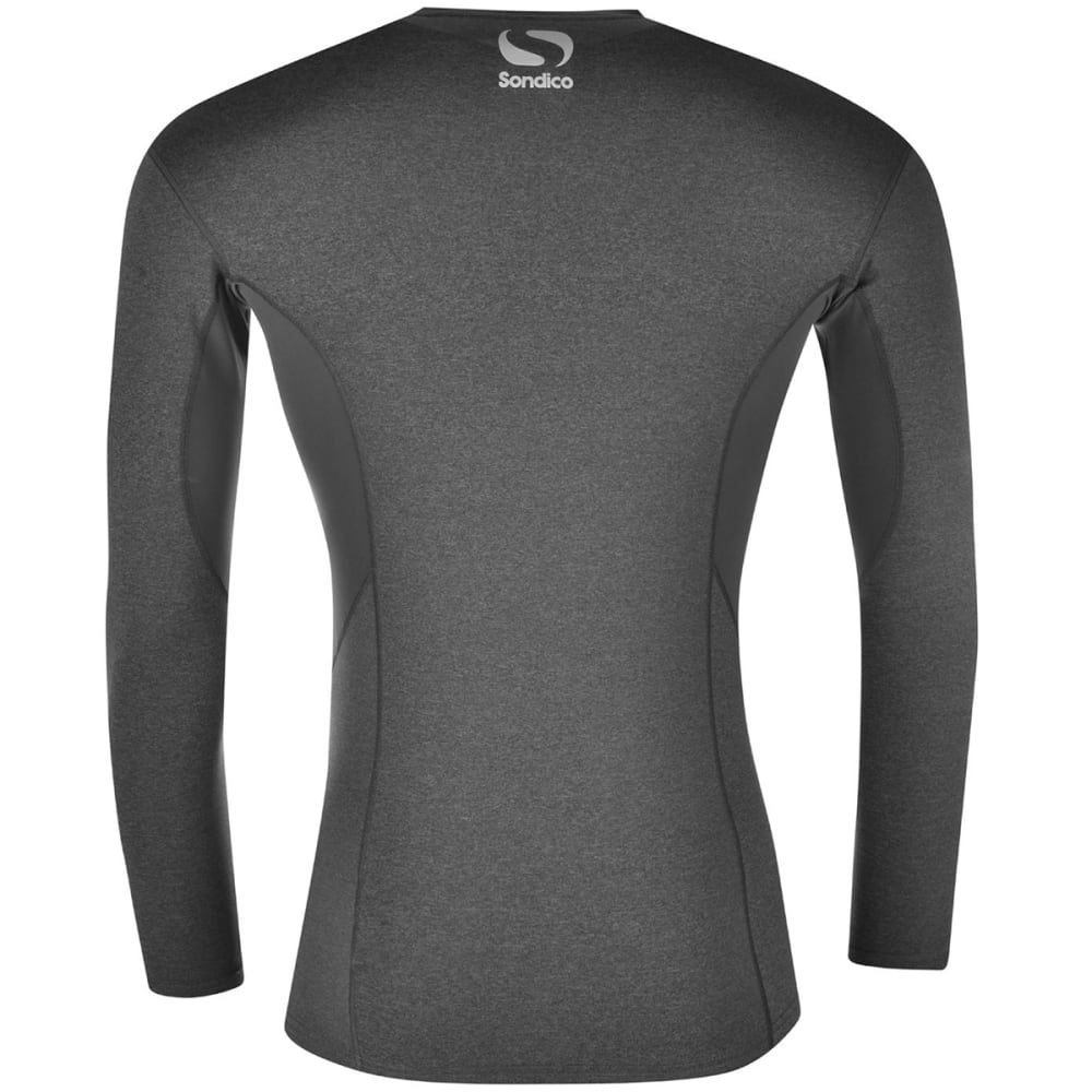SONDICO Boys' Core Long-Sleeve Base Layer Top - GREY MARL