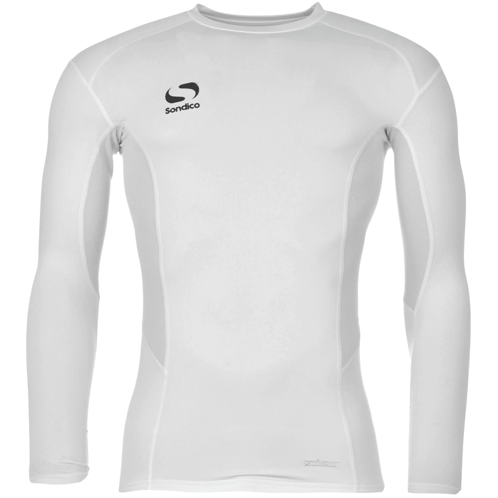 SONDICO Boys' Core Long-Sleeve Base Layer Top - WHITE