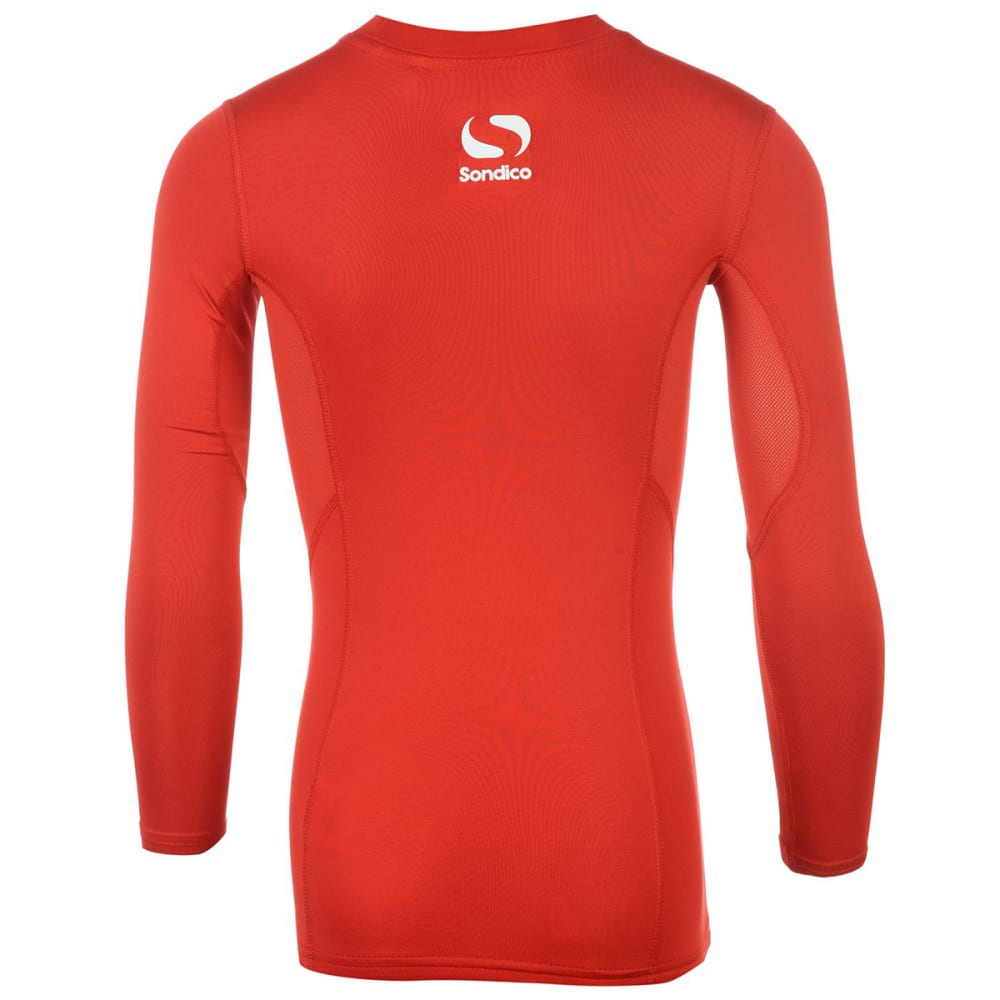 SONDICO Boys' Core Long-Sleeve Base Layer Top - RED