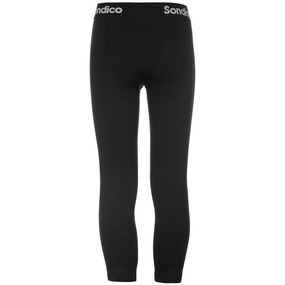 SONDICO Boys' Core Three-Quarter Tights - BLACK
