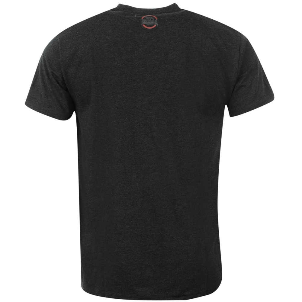 LONSDALE Men's Box Short-Sleeve Tee - Charcoal M