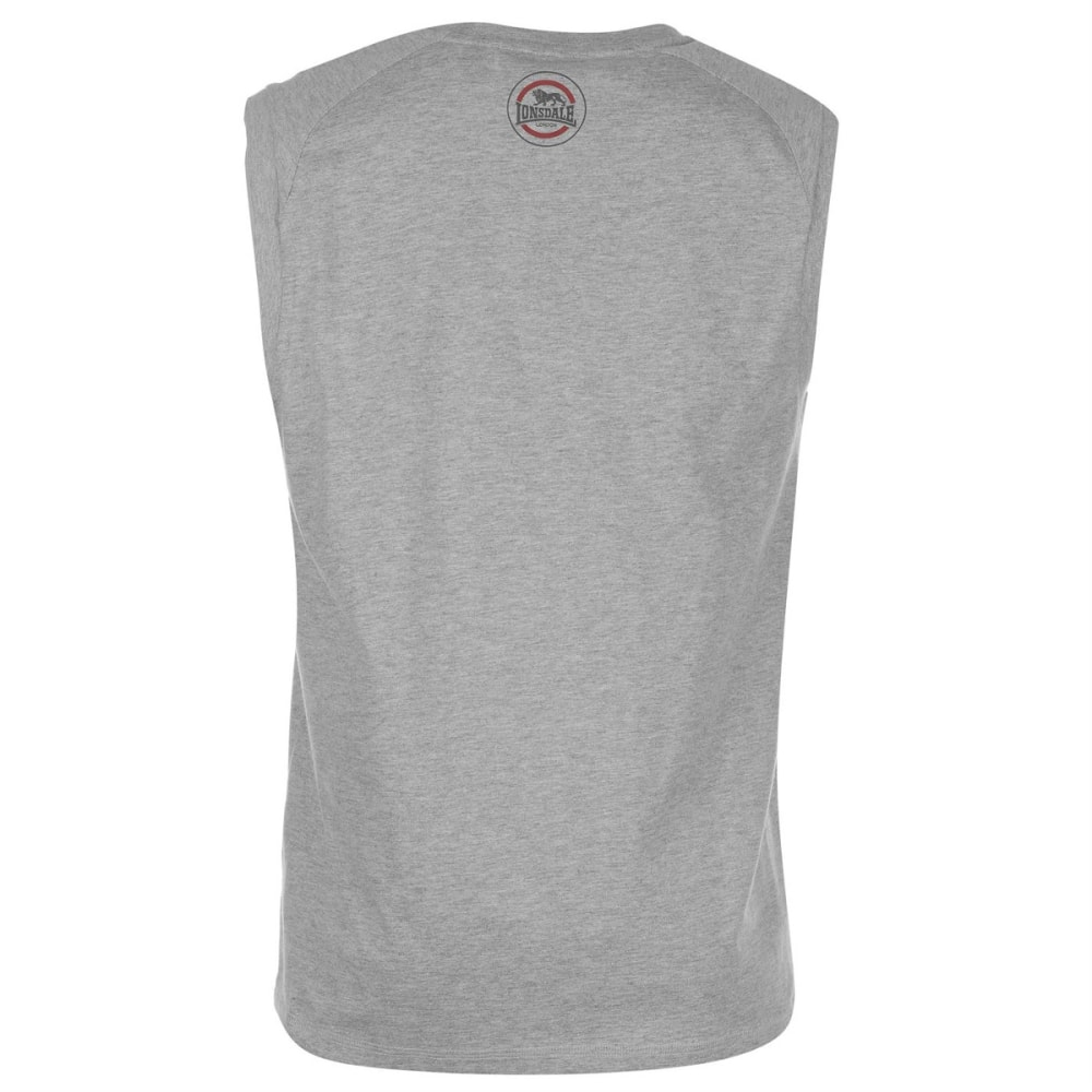 LONSDALE Men's Box Muscle Tank Top - GREY MARL