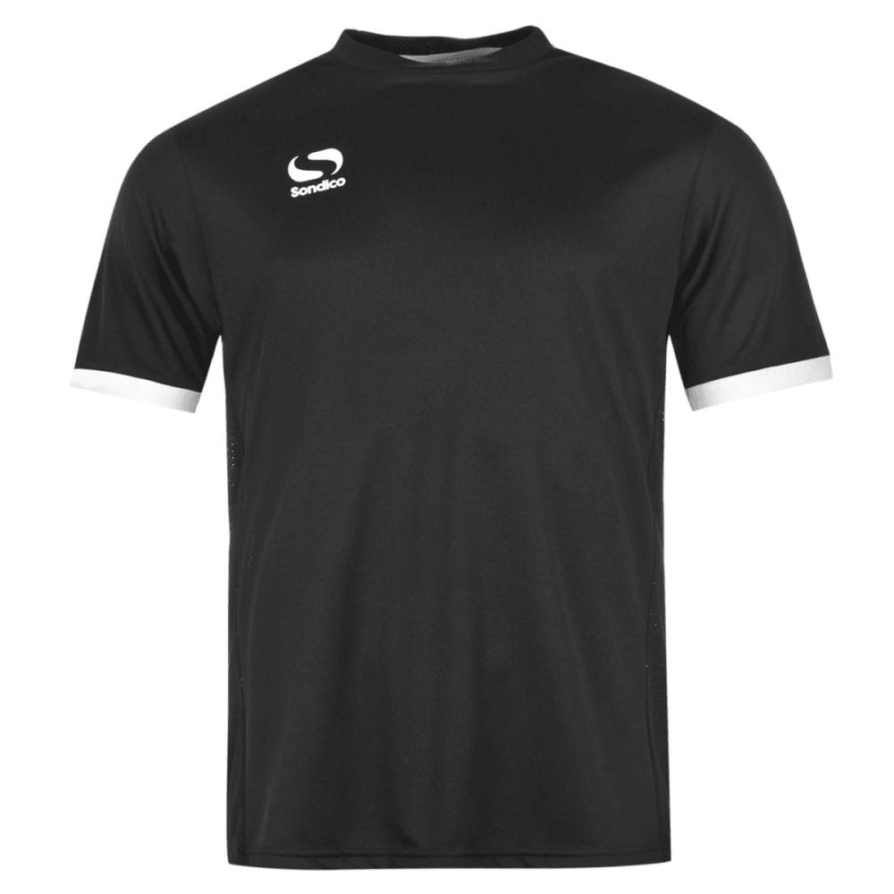 SONDICO Men's Fund Polyester Short-Sleeve Soccer Top - BLACK/WHITE