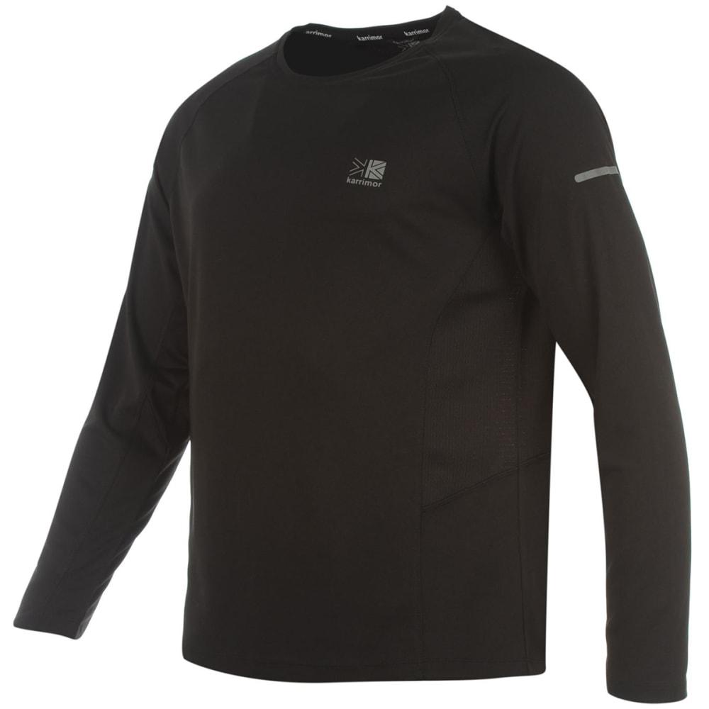 KARRIMOR Men's Running Long-Sleeve Tee - BLACK