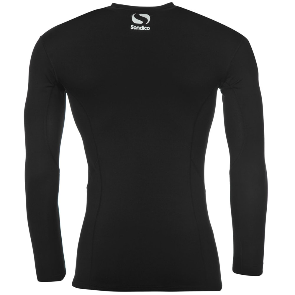 SONDICO Men's Base Core Long-Sleeve Base Layer Top - BLACK