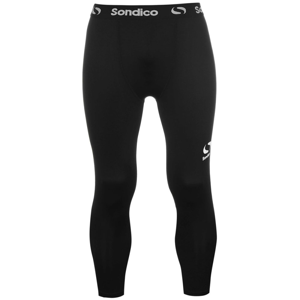 SONDICO Men's Core Three-Quarter Base Layer Tights - BLACK