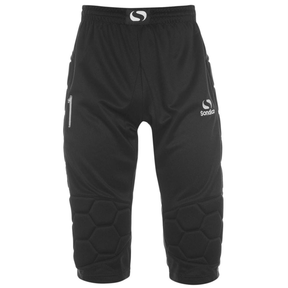 SONDICO Men's Goalkeeper ¾-Length Pants - BLACK