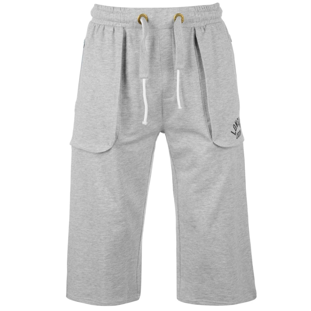 LONSDALE Men's Box Pants - GREY MARL
