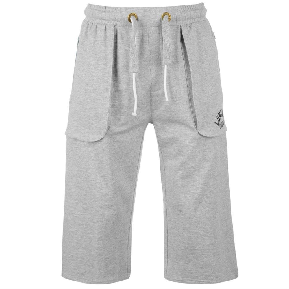 LONSDALE Men's Box Pants - GREY MARL