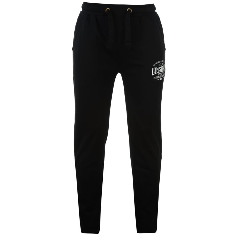LONSDALE Men's Box Lightweight Sweatpants - BLACK