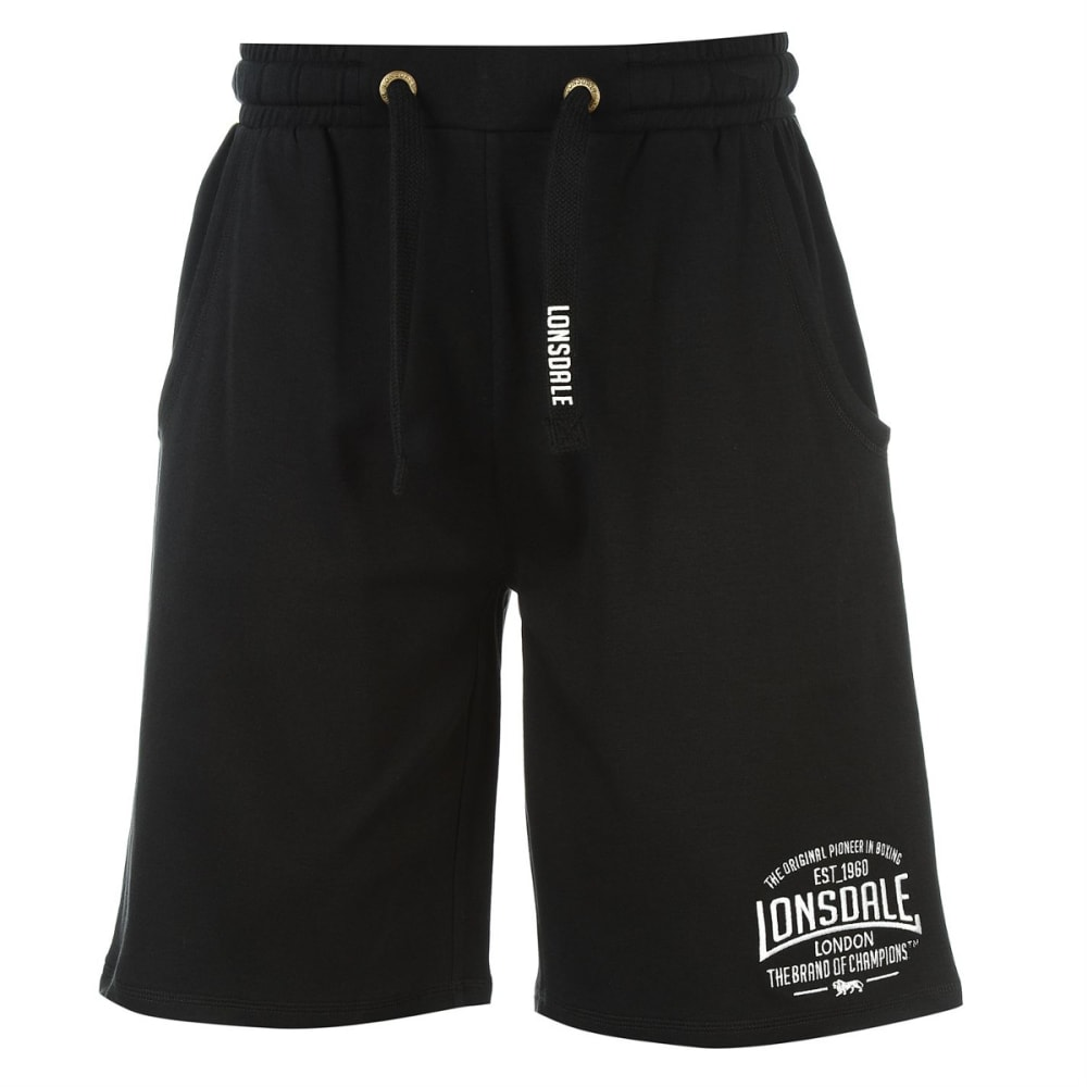 LONSDALE Men's Box Lightweight Shorts - BLACK