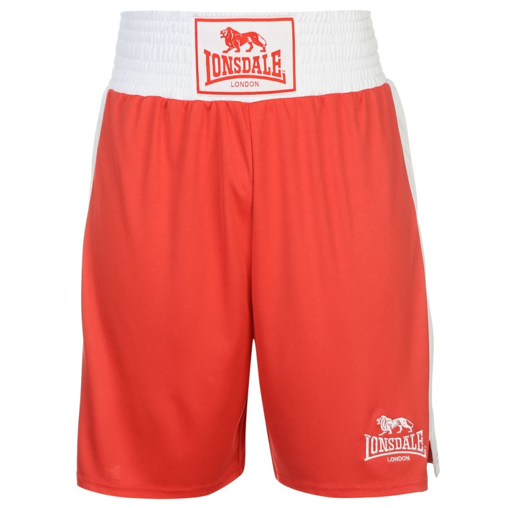 LONSDALE Men's Box Shorts - RED/WHITE