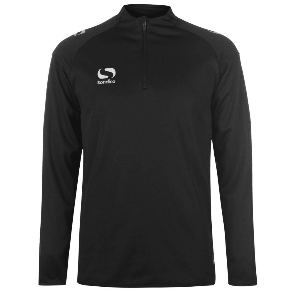 SONDICO Men's Long-Sleeve Mid Layer Top - BLACK