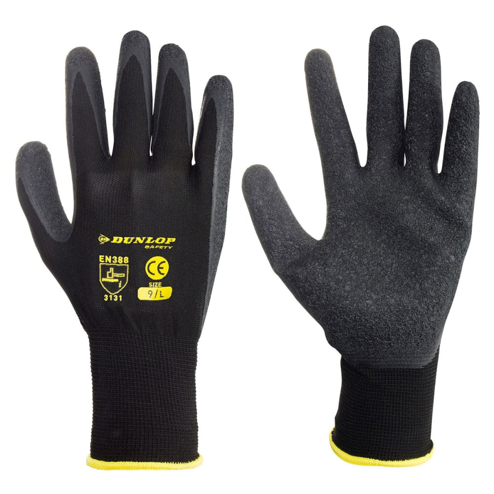 DUNLOP Men's Builder Grip Gloves - -
