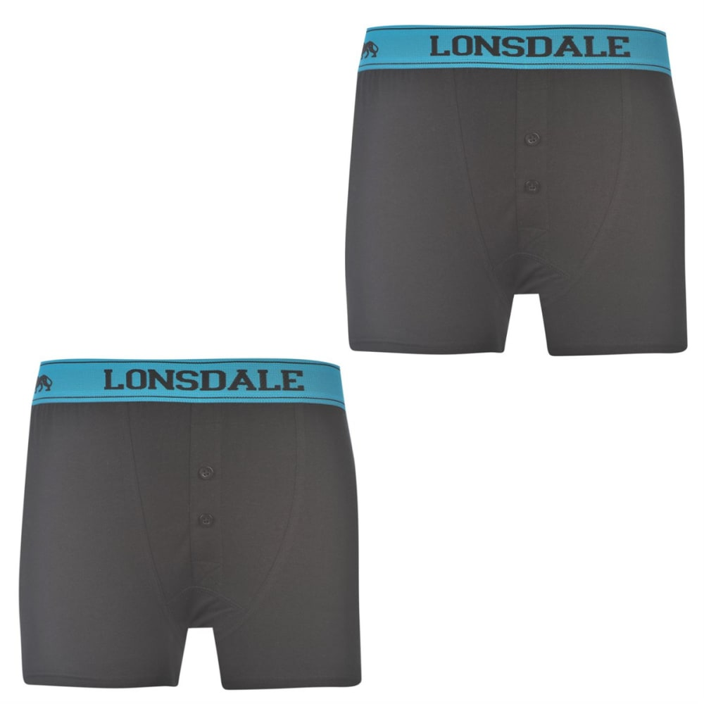 LONSDALE Boys' Boxers, 2-Pack 7-8X