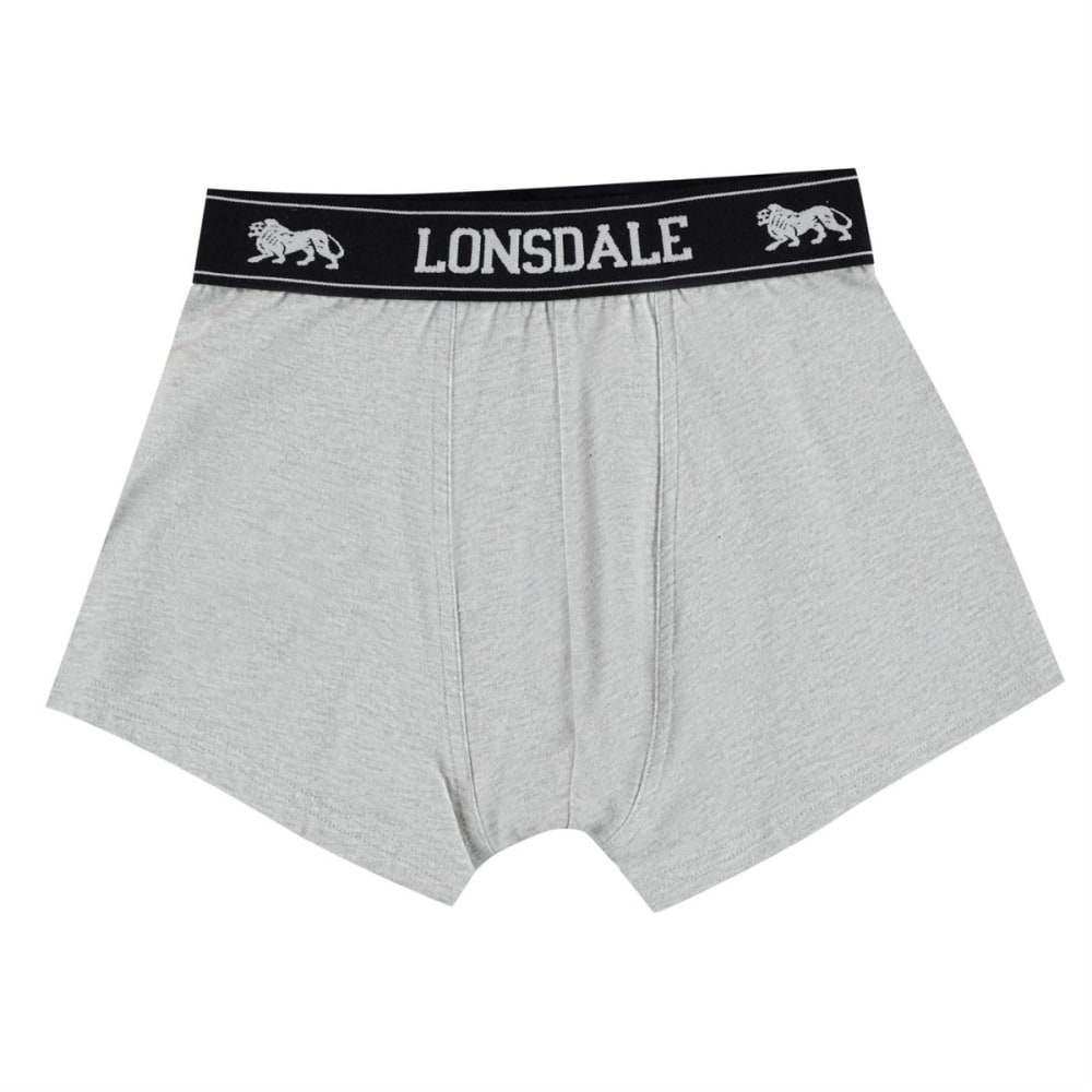 Lonsdale Boys' Trunks, 2-Pack - Black, 7-8X