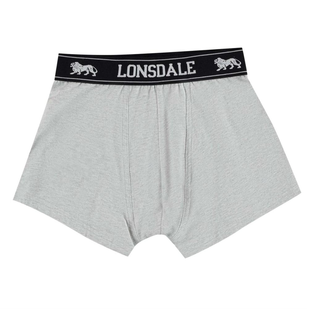 LONSDALE Boys' Trunks, 2-Pack - GREY