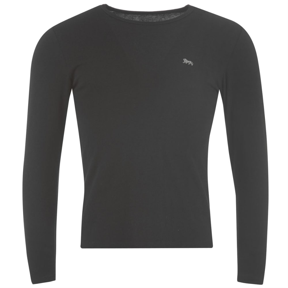 LONSDALE Men's Long-Sleeve Tee - BLACK