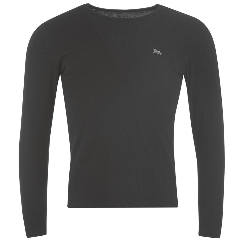 LONSDALE Men's Long-Sleeve Tee - BLACK