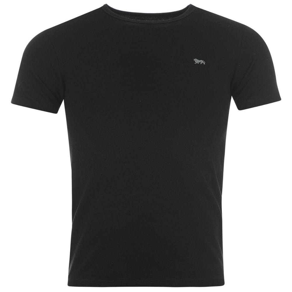 LONSDALE Men's Single Short-Sleeve Tee - BLACK