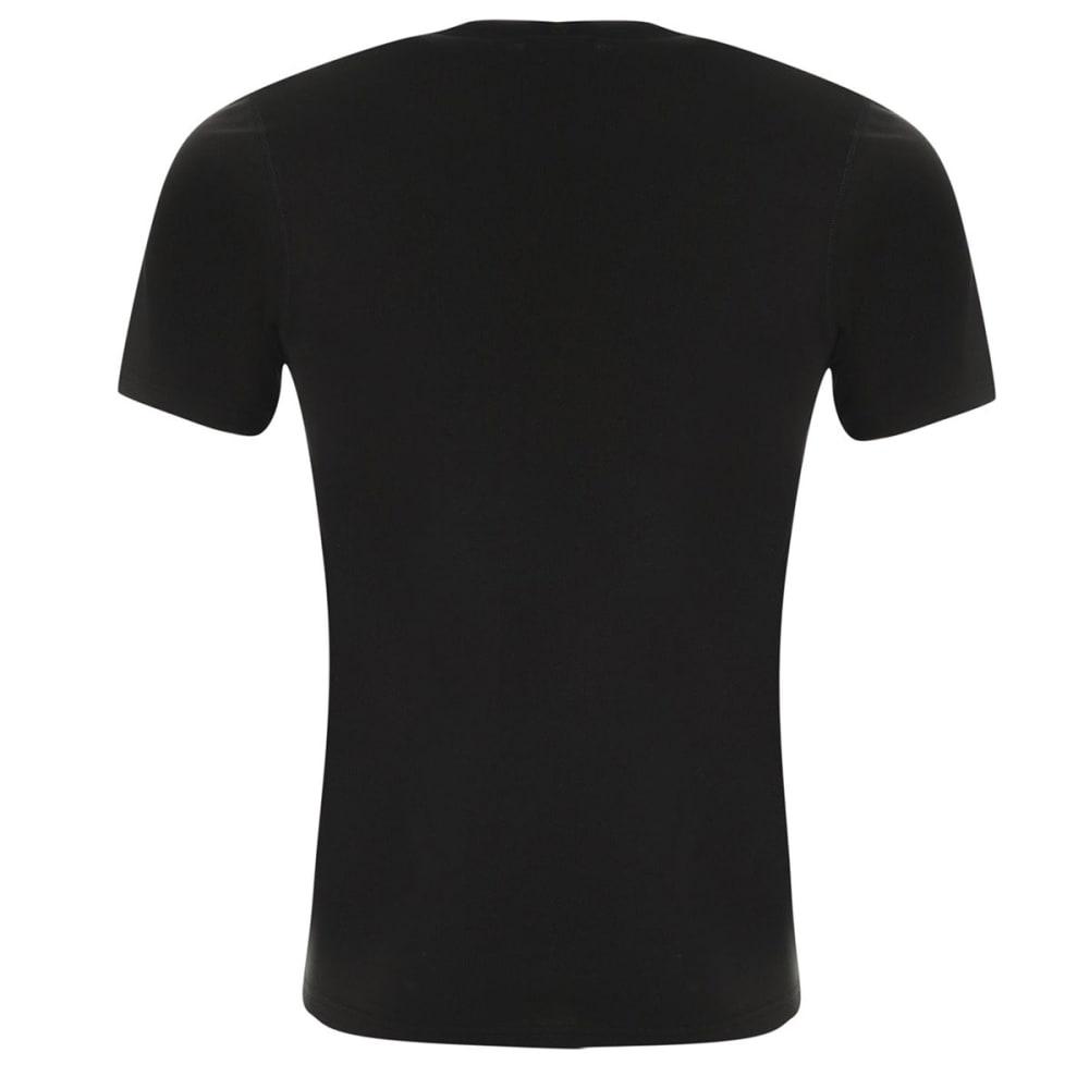 CAMPRI Men's Thermal Base Layer Short-Sleeve Top - BLACK