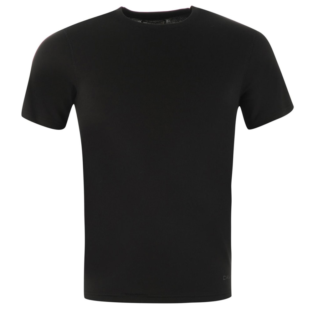 Campri Men's Thermal Base Layer Short-Sleeve Top - Black, S