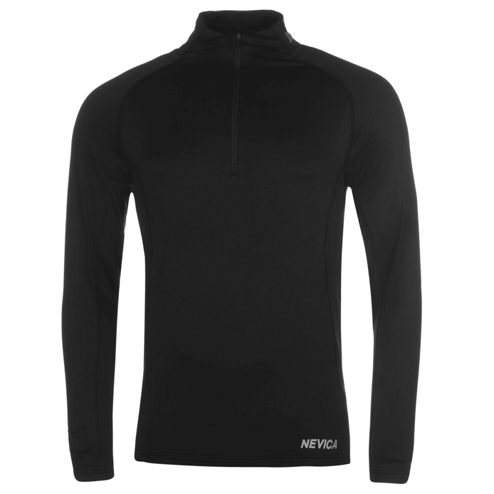 NEVICA Men's Vail Thermal Ski Base Layer Long-Sleeve Top - BLACK
