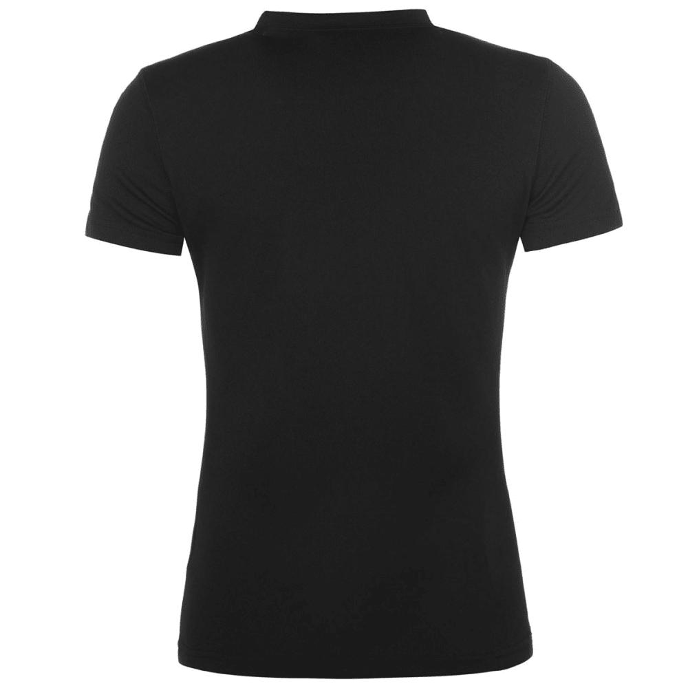 CAMPRI Women's Thermal Base Layer Short-Sleeve Top - BLACK