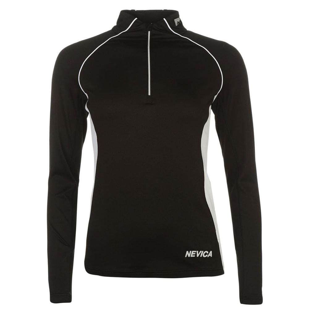 NEVICA Women's Vail Zip Base Layer Long-Sleeve Top - BLACK