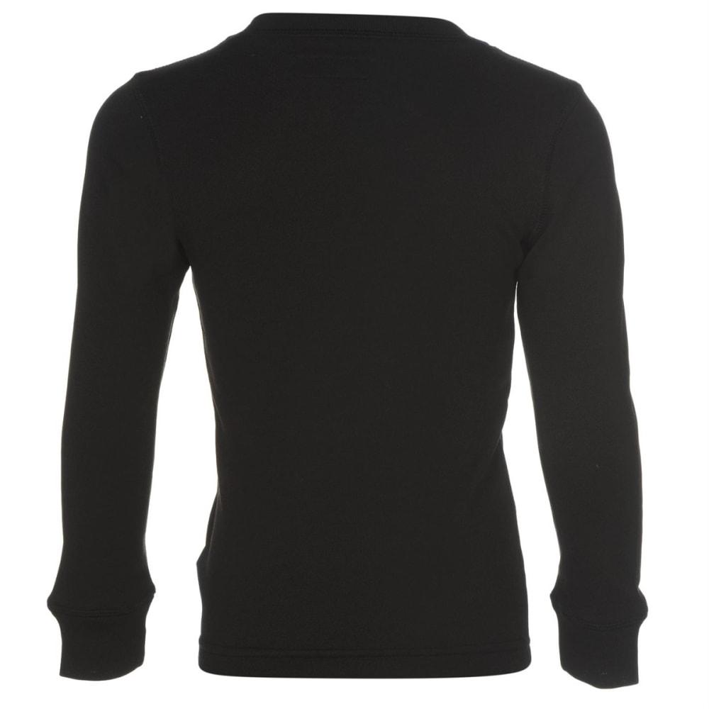 CAMPRI Boys' Thermal Base Layer Top - BLACK