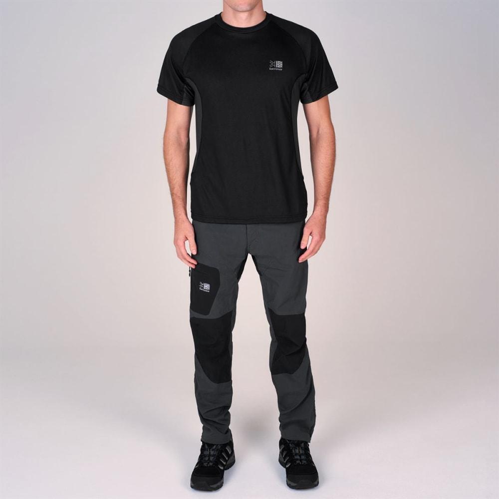 KARRIMOR Men's Aspen Technical Short-Sleeve Tee - BLACK/CHARCOAL