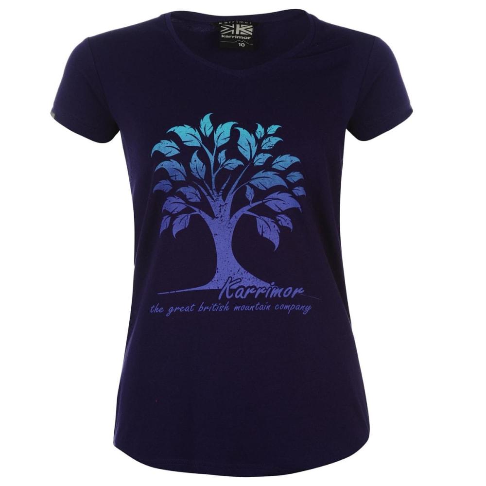 KARRIMOR Women's Organic Graphic Tee - PURPLE