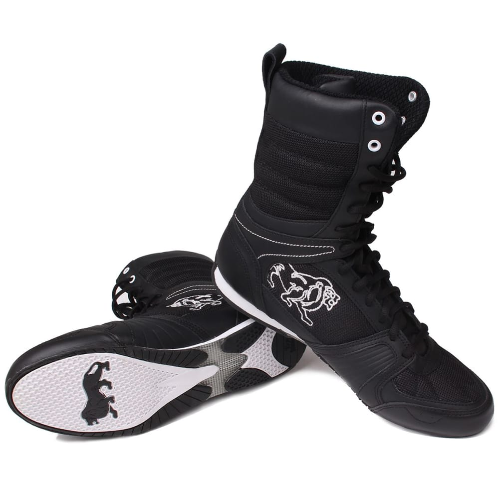 LONSDALE Men's Contender Boxing Boots - BLACK/WHITE